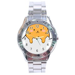 Yellow Cat Egg Stainless Steel Analogue Watch by Catifornia