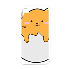 Yellow Cat Egg Apple Iphone 4 Case (white) by Catifornia