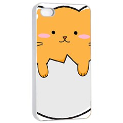 Yellow Cat Egg Apple Iphone 4/4s Seamless Case (white) by Catifornia