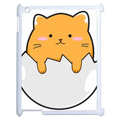 Yellow Cat Egg Apple Ipad 2 Case (white) by Catifornia