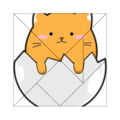 Yellow Cat Egg Acrylic Tangram Puzzle (6  X 6 ) by Catifornia