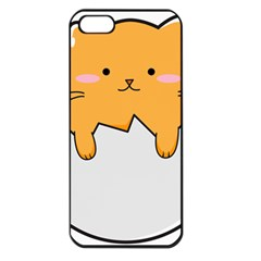Yellow Cat Egg Apple Iphone 5 Seamless Case (black) by Catifornia