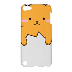 Yellow Cat Egg Apple Ipod Touch 5 Hardshell Case by Catifornia