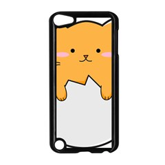 Yellow Cat Egg Apple Ipod Touch 5 Case (black) by Catifornia