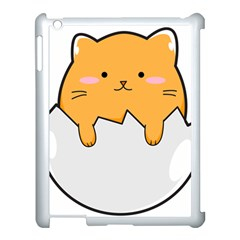 Yellow Cat Egg Apple Ipad 3/4 Case (white) by Catifornia