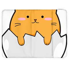 Yellow Cat Egg Samsung Galaxy Tab 7  P1000 Flip Case by Catifornia
