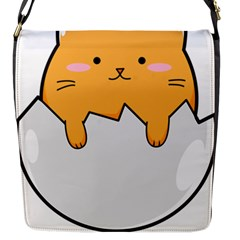 Yellow Cat Egg Flap Messenger Bag (s) by Catifornia