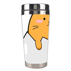 Yellow Cat Egg Stainless Steel Travel Tumblers by Catifornia