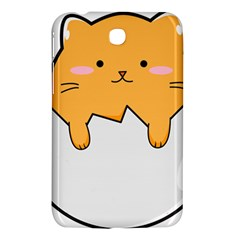 Yellow Cat Egg Samsung Galaxy Tab 3 (7 ) P3200 Hardshell Case  by Catifornia