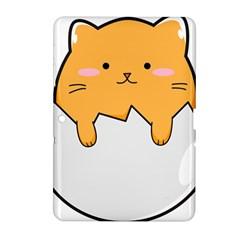 Yellow Cat Egg Samsung Galaxy Tab 2 (10 1 ) P5100 Hardshell Case  by Catifornia