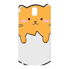 Yellow Cat Egg Samsung Galaxy Note 3 N9005 Hardshell Back Case by Catifornia