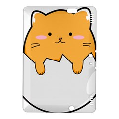 Yellow Cat Egg Kindle Fire Hdx 8 9  Hardshell Case by Catifornia