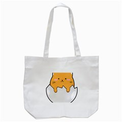 Yellow Cat Egg Tote Bag (white) by Catifornia