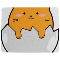 Yellow Cat Egg Jigsaw Puzzle Photo Stand (rectangular) by Catifornia