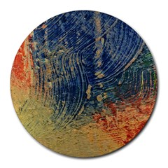 3 colors paint                    Round Mousepad by LalyLauraFLM