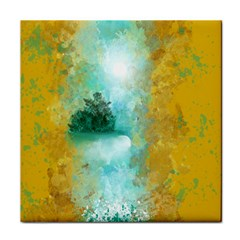 Turquoise River Tile Coasters by theunrulyartist