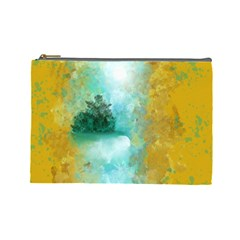 Turquoise River Cosmetic Bag (large)  by digitaldivadesigns