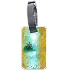 Turquoise River Luggage Tags (one Side)  by theunrulyartist