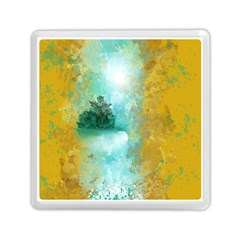 Turquoise River Memory Card Reader (square)  by theunrulyartist