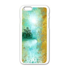 Turquoise River Apple Iphone 6/6s White Enamel Case by theunrulyartist