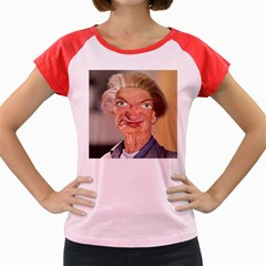 Self Portrait With Face Women s Cap Sleeve T Shirt by RakeClag