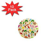 Beach Pattern 1  Mini Magnet (10 Pack)  by Valentinaart