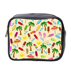 Beach Pattern Mini Toiletries Bag 2 Side by Valentinaart