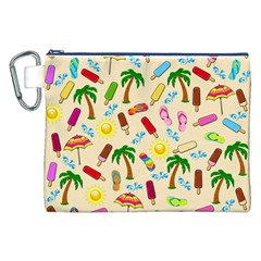 Beach Pattern Canvas Cosmetic Bag (xxl) by Valentinaart