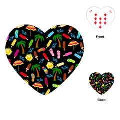 Beach Pattern Playing Cards (heart)  by Valentinaart