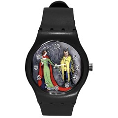 Beauty And The Beast Classic Artwork Round Plastic Sport Watch (m) by RoseTylersFanShop
