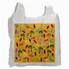 Beach Pattern Recycle Bag (one Side) by Valentinaart