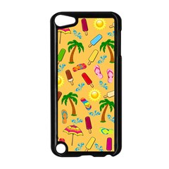 Beach Pattern Apple Ipod Touch 5 Case (black) by Valentinaart