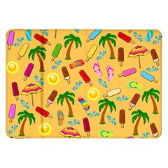 Beach Pattern Samsung Galaxy Tab 8 9  P7300 Flip Case by Valentinaart