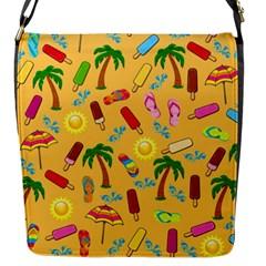 Beach Pattern Flap Messenger Bag (s) by Valentinaart