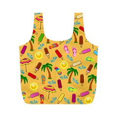 Beach Pattern Full Print Recycle Bags (m)  by Valentinaart