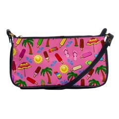 Beach Pattern Shoulder Clutch Bags by Valentinaart
