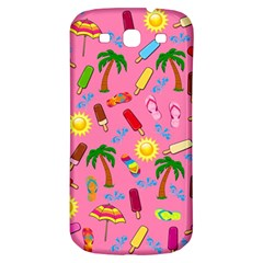 Beach Pattern Samsung Galaxy S3 S Iii Classic Hardshell Back Case by Valentinaart