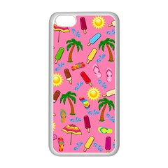 Beach Pattern Apple Iphone 5c Seamless Case (white) by Valentinaart