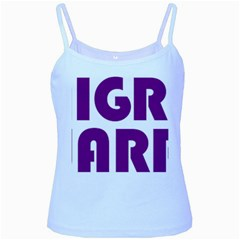Migraine Warrior With Ribbon Baby Blue Spaghetti Tank