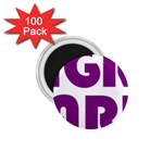 Migraine Warrior with Ribbon 1.75  Magnets (100 pack)  Front