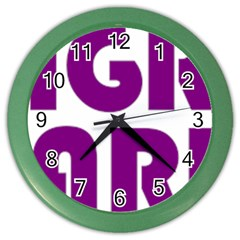 Migraine Warrior With Ribbon Color Wall Clocks by MigraineursHideout