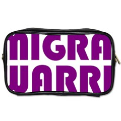 Migraine Warrior With Ribbon Toiletries Bags 2 Side by MigraineursHideout