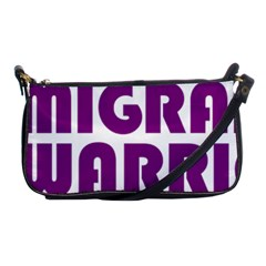Migraine Warrior With Ribbon Shoulder Clutch Bags by MigraineursHideout