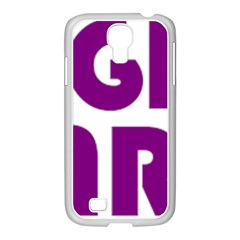 Migraine Warrior With Ribbon Samsung Galaxy S4 I9500/ I9505 Case (white)