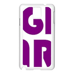 Migraine Warrior With Ribbon Samsung Galaxy Note 3 N9005 Case (white) by MigraineursHideout