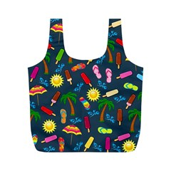 Beach Pattern Full Print Recycle Bags (m)