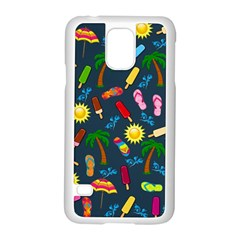 Beach Pattern Samsung Galaxy S5 Case (white) by Valentinaart