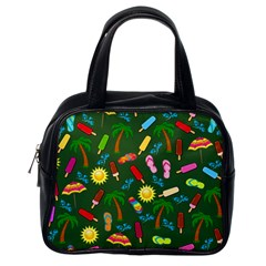 Beach Pattern Classic Handbags (one Side) by Valentinaart
