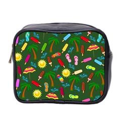 Beach Pattern Mini Toiletries Bag 2 Side by Valentinaart