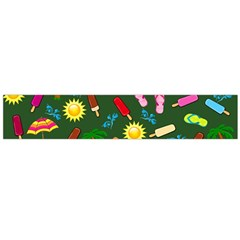 Beach Pattern Flano Scarf (large) by Valentinaart